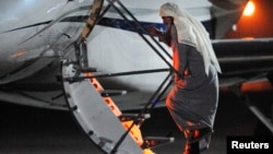 Radical Muslim cleric Abu Qatada boarded a small aircraft bound for Jordan during his deportation from Royal Air Force base Northolt in London early on July 7.