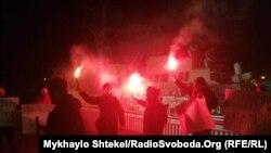26 лютого активісти провели на Одеському морському вокзалі акцію «Хто замовив Катю Гандзюк»