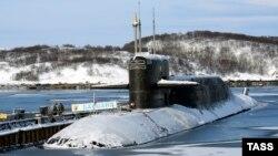 Ресейдің Солтүстік флотына тиесілі атом сүңгуір кемесі. (Көрнекі сурет)