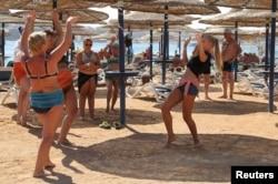 Классический отдых российских туристов в Египте в прошлые годы