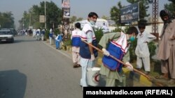 Џалалабад, чистење на градот.