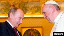 Հռոմի պապի և Ռուսաստանի նախագահի հանդիպումը Վատիկանում, 25-ը նոյեմբերի, 2013թ․