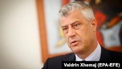 Kosovar President Hashim Thaci (file photo)