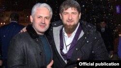 Муслим Хучиев и Рамзан Кадыров, архивное фото