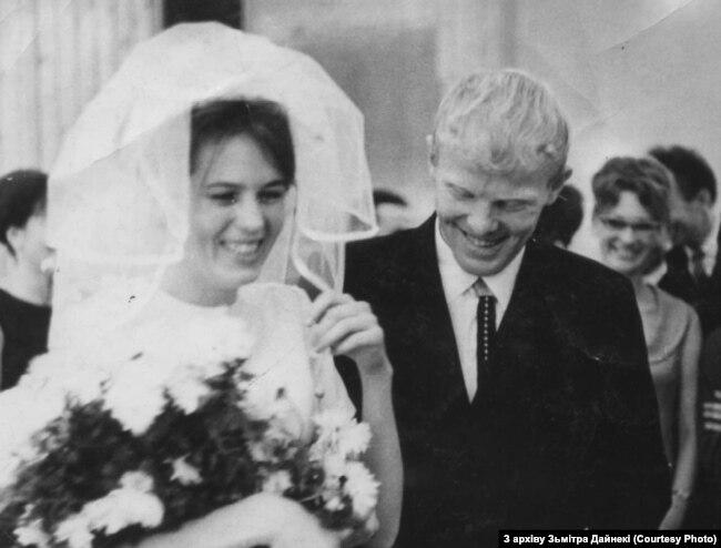У дзень шлюбу зь Зінаідай. Менск, 1966 г.