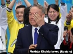 """Нұрсұлтан Назарбаев """"Нұр Отан"""" съезінде. Нұр-Сұлтан, 23 сәуір 2019 жыл."""