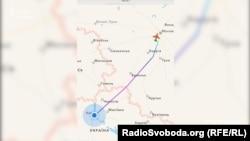Falcon 900 летит из Киева в Москву
