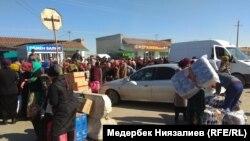 КПП «Достук» («Дустлик») на кыргызско-узбекской границе.
