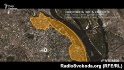 Межі буферної зони комплексу споруд собору Святої Софiї та ансамблю Києво-Печерської лаври – об'єктів всесвітньої спадщини ЮНЕСКО