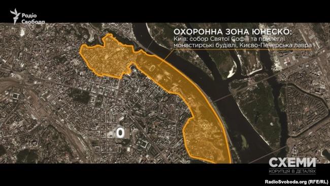 Межі буферної зони комплексу споруд собору Святої Софiї та ансамблю Києво-Печерської лаври – об`єктів всесвітньої спадщини ЮНЕСКО