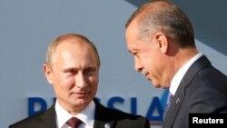 Путин белән Эрдоган Петербурда G20 саммитында. 5 сентябрь 2013