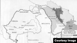 """Румынская мозаика: """"старая"""" Румыния, Трансильвания, Бессарабия, Буковина... Как менялись границы в период 1918–1944 годов. Карта из книги Чарльза Кинга """"Молдаване"""""""