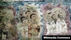 Թուրքիա - Որմնանկարներ Տրապիզոնի մոտ գտնվող Սուրբ Ամենափրկիչ հայկական եկեղեցու պատերին, 2007թ․