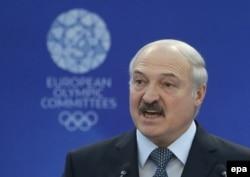 Аляксандар Лукашэнка на паседжаньні Эўрапейскага алімпійскага камітэту, 2016 год