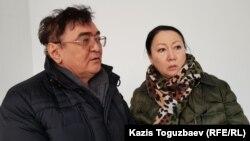 Сотталған кәсіпкер Ескендір Ерімбетовтің ата-анасы апелляциялық сот тыңдауында. Алматы, 25 желтоқсан 2018 жыл.