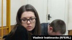 Анастасия Леонова и её адвокат Виктор Губский