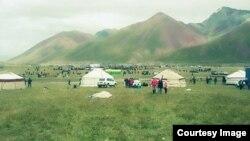 Қырғызстанның Ош облысындағы жайлау (Көрнекі сурет).