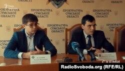 Прес-конференція сумських силовиків, які затримували Самкового