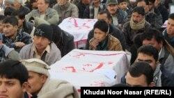 Shiites protest militant attacks Quetta, Balochistan.