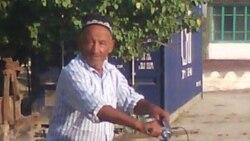 """Наманганлик Хусан """"Чайка"""" лақабли пенсионер юртбошимиз Ислом Каримов қабрига бориш учун Самаркандга велосипедда йул олди"""