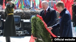 Belarus - President of Belarus at the celebration of Victory Day in Minsk, 9May2017