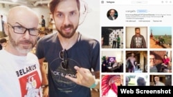 Belarus - ONT TV presenter Dmitry Vrangel social networks pages screen shots, 8Jul2016