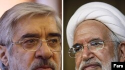 Mir Hossein Musavi (left) and Mehdi Karubi are both said to be under house arrest, cut off from all outside contact.