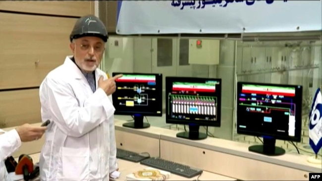 Iran's nuclear chief announces a ten-fold increase in enriched uranium production. November 4, 2019
