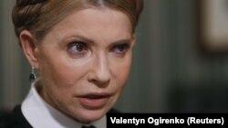 Керівник парламентської фракції «Батьківщина» Юлія Тимошенко під час інтерв'ю агентству Reuters. Київ, 8 листопада 2017 року