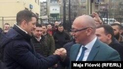 Marko Gjuriq dhe kryetari i Mitrovicës Veriore, Goran Rakiq