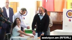 Nikol Pashinian səs verir. 23 sentyabr,Yerevan
