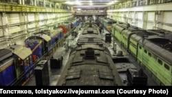 Локомотивное депо в Тынде
