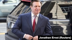 Paul Manafort, the former chairman of Donald Trump's election campaign, was convicted on eight charges in August.
