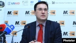 Armenia - The head of the EU Delegation in Armenia, Traian Hristea, gives a press conference in Yerevan, 16Dec2014.
