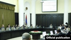 Armenia -- A weekly session of the cabinet chaired by Prime Minister Tigran Sarkisian, undated.
