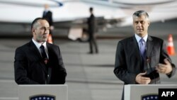 Претседателот и премиерот на Косово Хашим Тачи и Рамуш Харадинај, архивска фотографија