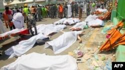 Тела погибших на месте трагической давки близ Мекки, 24 сентября 2015 года.
