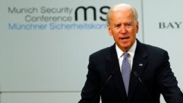 Joseph Biden la conferința pe teme de securitate de la Munchen.