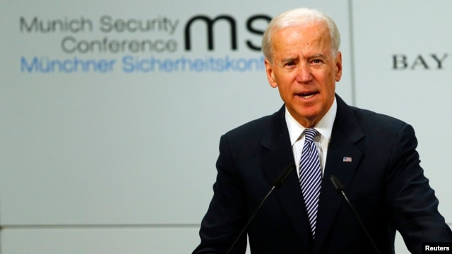 U.S. Vice President Joseph Biden delivers a speech at the 49th Conference on Security Policy in Munich on February 2.