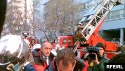 Глава МЧС Сергей Шойгу на месте пожара