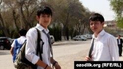 Узбекские школьники, архивное фото.