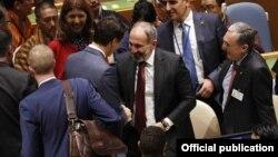 Встреча премьер-министра Армении Никола Пашиняна с премьер-министром Канады Джастином Трюдо на Саммите мира в Нью-Йорке, 24 сентября 2018 г.