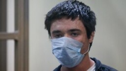 Ukrainian citizen Pavlo Hryb at his court hearing in Rostov-on-Don on March 22.
