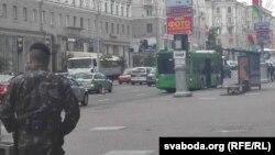 Эвакуацыя ў цэнтры Масквы