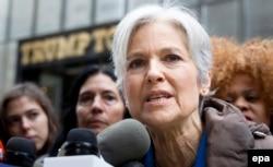 Джилл Стайн во время предвыборной кампании