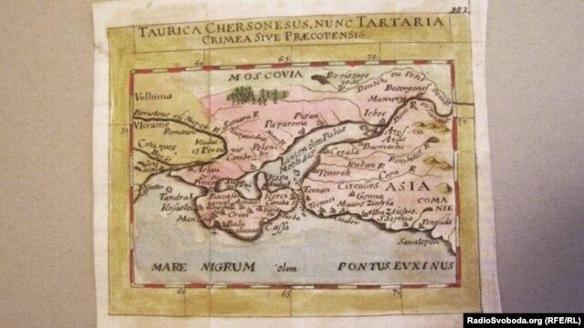 Карта XVII века, на которой изображены Украина, Крым и Черное море. Из атласа французского картографа Пьера Дюваля