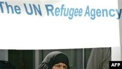 لاجئة عراقية في سوريا