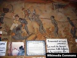"""Стена в музее """"Дом Рабов"""" в Сенегале"""