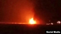 Пожар на мелководной части платформы «Гюнешли»