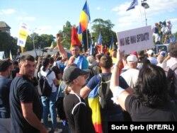Romania - Protestul antiguvernamental, Piața Victoriei, 10 august 2018